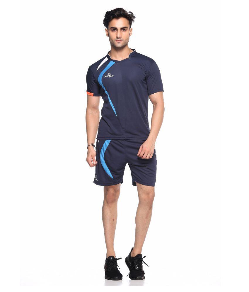 Sport Sun Navy Polyester T-Shirt Pack of 2