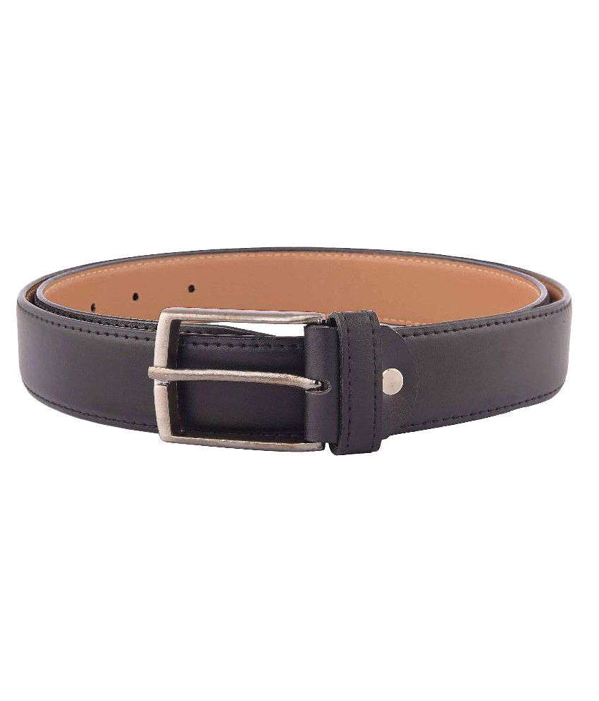 Trapos Creations Black Faux Leather Formal Belts