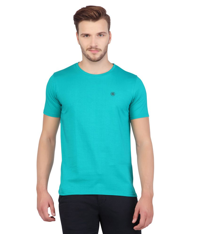 AFL By Fbb Green Solid Regular Fit Shirt