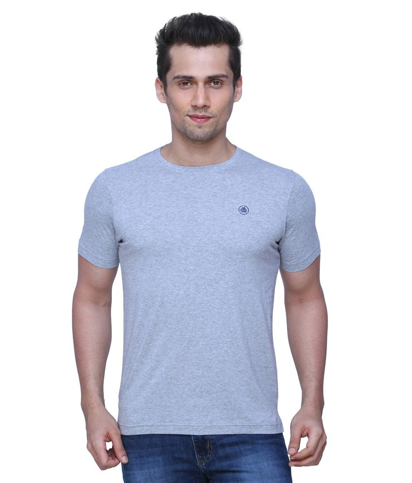 AFL By Fbb Grey Solid Regular Fit Shirt