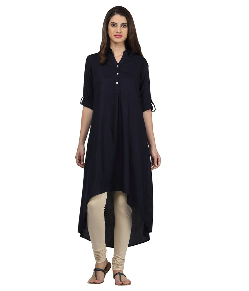 bb072336f87 Srishti By FBB Blue Solid Kurta - Buy Srishti By FBB Blue Solid Kurta Online  at Best Prices in India on Snapdeal