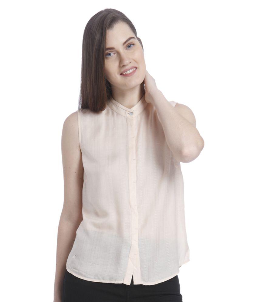 buy vero moda beige viscose shirt online at best prices in