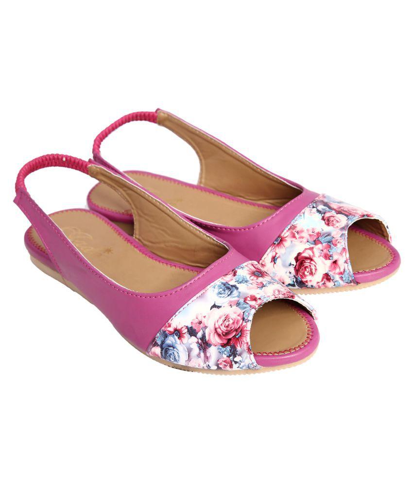 Jade Pink Flats
