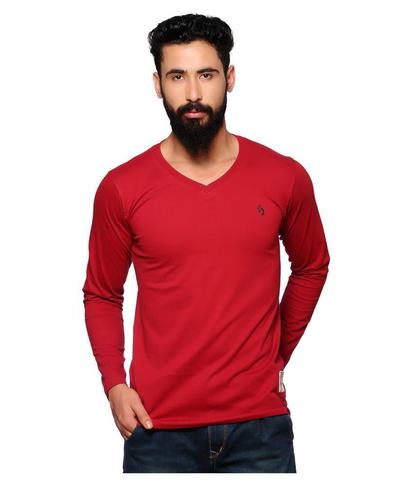 Nucode Red V-neck T-Shirt