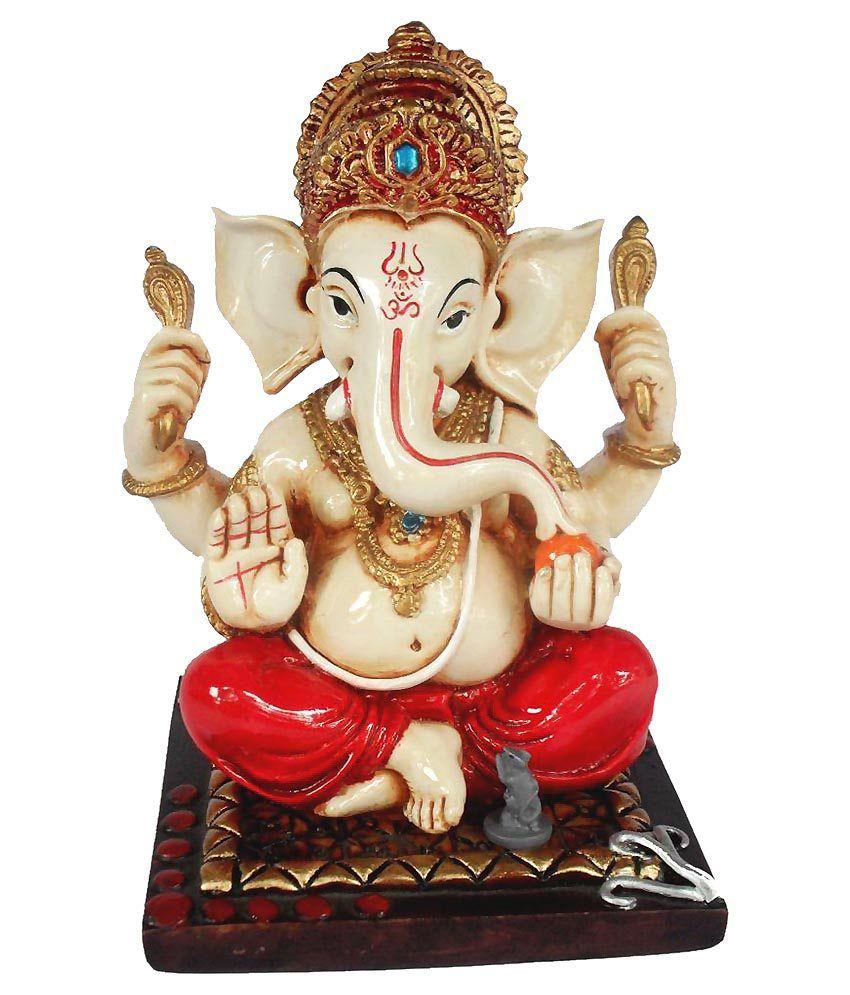 Sheela's Arts & Crafts Ganesha Polyresin Idol