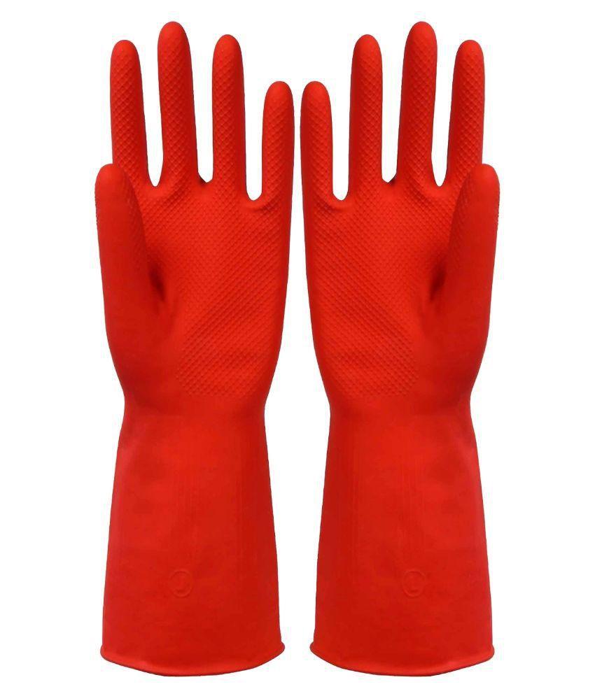 Nebel India Webshoppers - Reusable Rubber Hand Gloves, Medium- Set Of 1 Pair Buy -4388