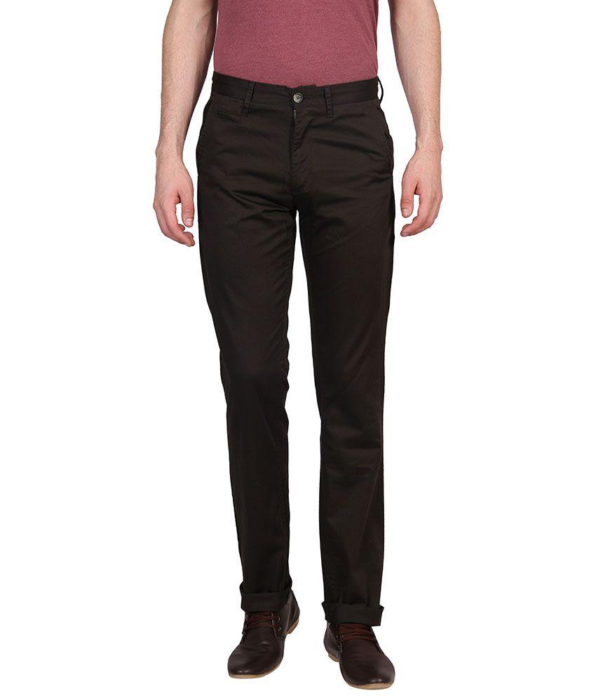 Urban Nomad Brown Slim Flat Trouser