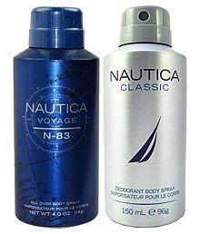 Nautica Deodorant (200 Ml+300 Ml) - Pack Of 2