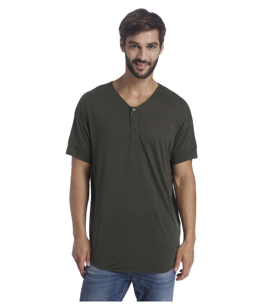 Selected Green Henley T-Shirt