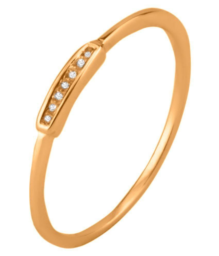 Sparkles 9K Rose Gold Diamond Ring