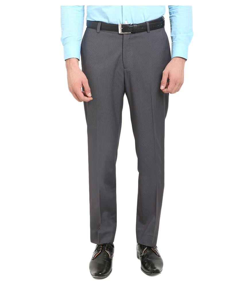 Blackberrys Grey Regular Flat Trouser