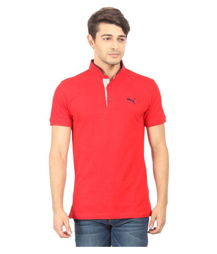 Puma Red Slim Fit Polo T Shirt