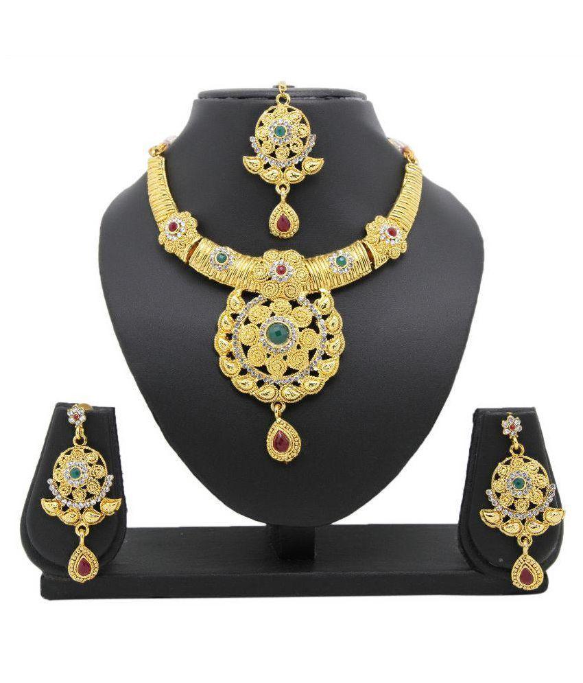 Adoreva Golden Necklace set Combo