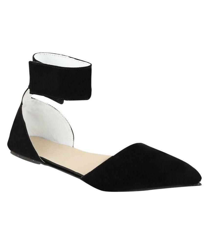 Fashion Chor Black Flats