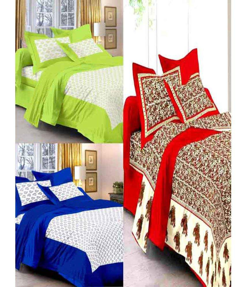 Uniqchoice King Cotton Printed Bed Sheet