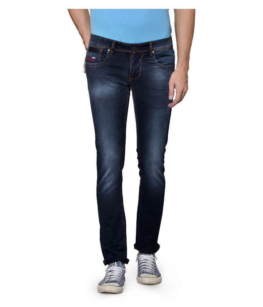 Azov Fashions Pvt Ltd Dark Blue Slim Fit Jeans