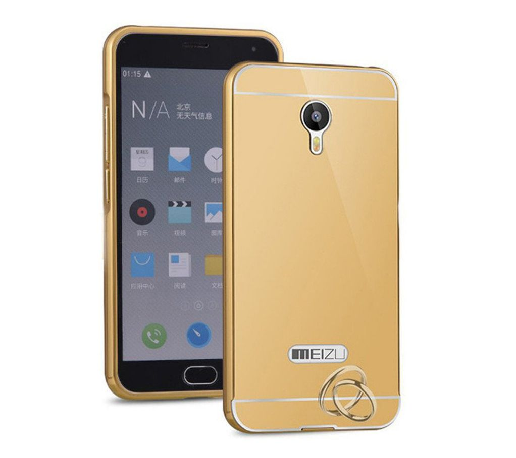 Mirror Back Cover For Meizu M2 + Zipper earphone free by Style Crome.