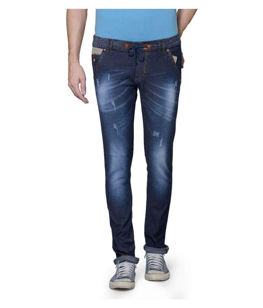Azov Fashions Blue Slim Fit Jeans