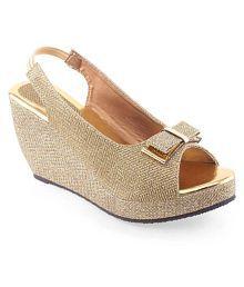 Shoe Lab Beige Wedges Heels