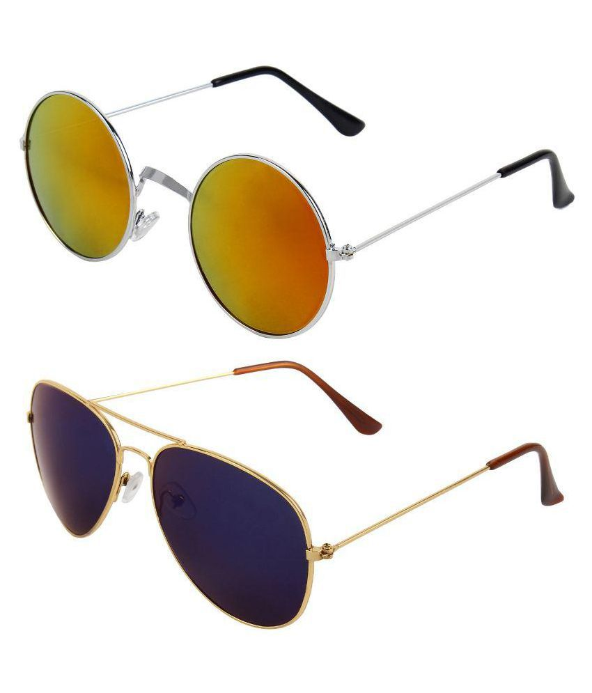 Zyaden Multicolor Aviator Sunglasses ( Com-179 )