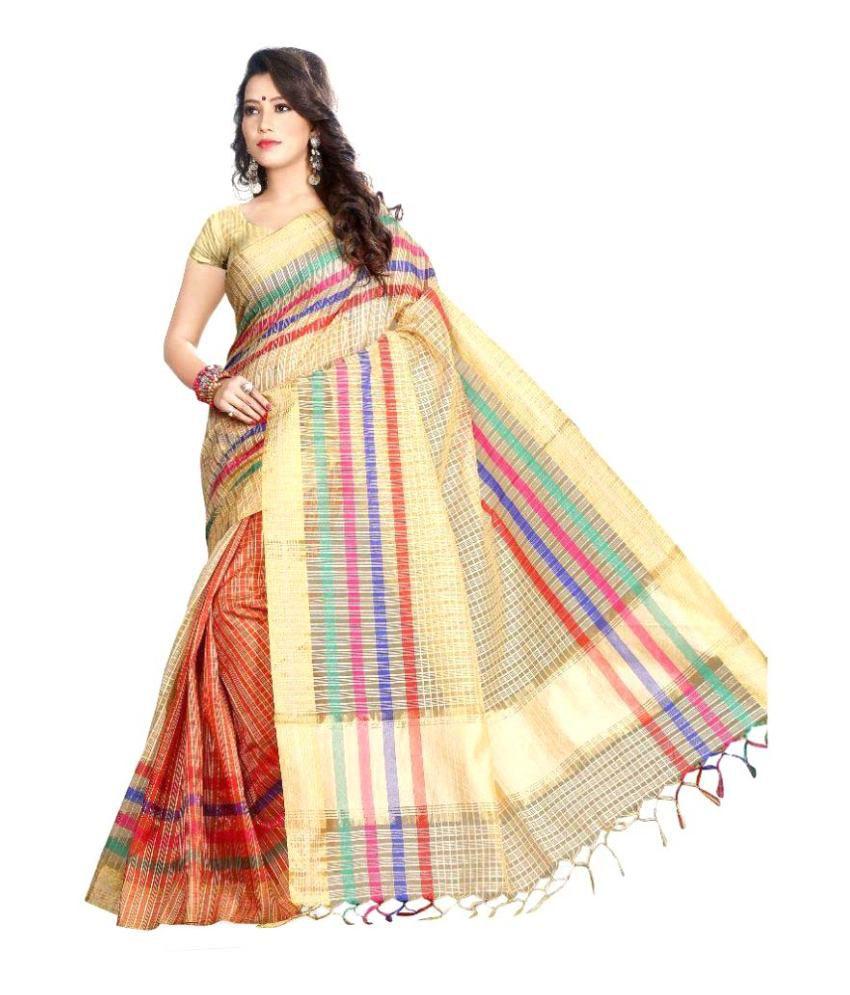 Asavari Multicoloured Cotton Blend Saree