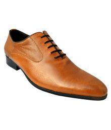De Moda Tan Party Genuine Leather Formal Shoes