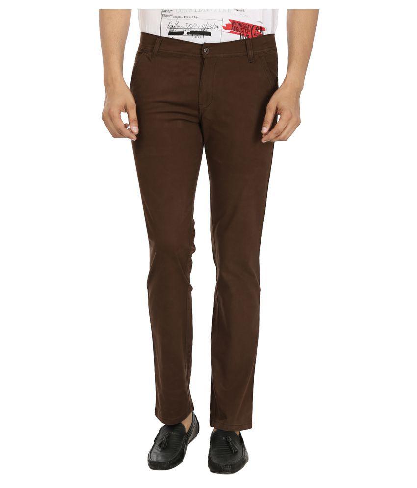 Black Unicorn Brown Regular Flat Trouser