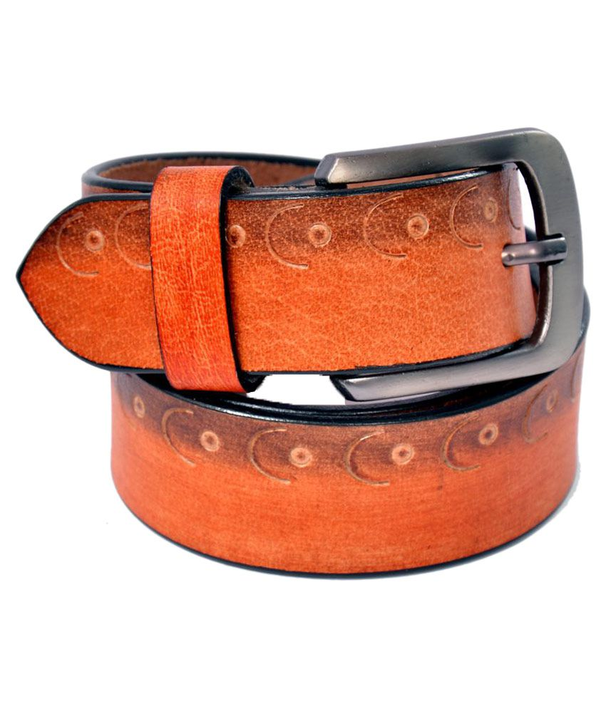 Fadoak Tan Leather Casual Belts
