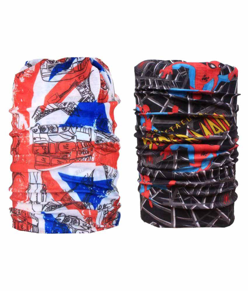 Jstarmart Multicolour Polyester Bandana - Pack of 2
