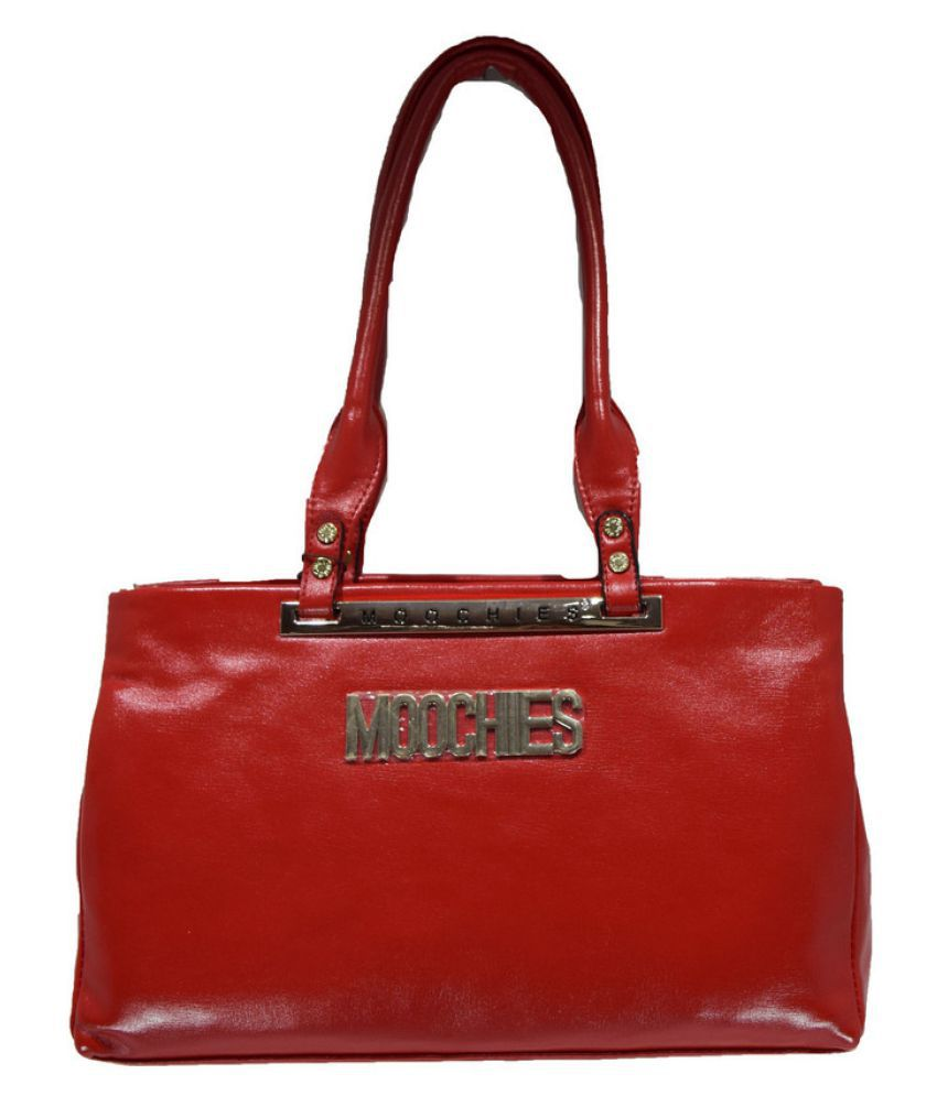 Moochies Red Pure Leather Handheld