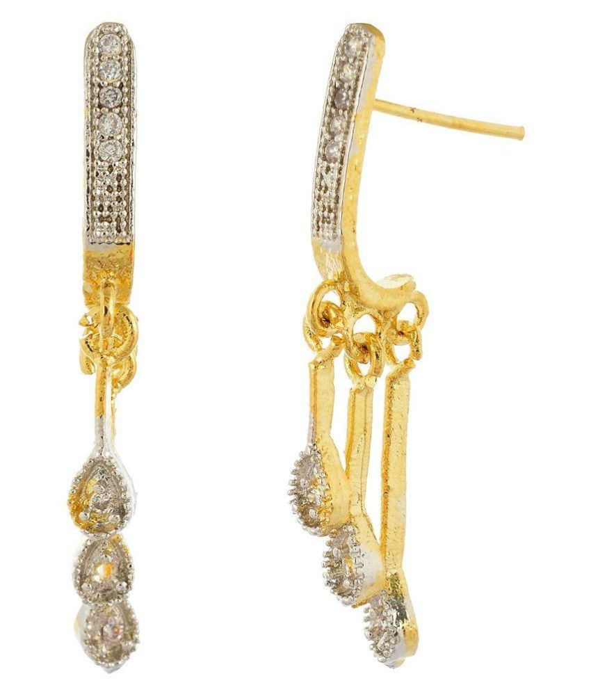Jewels Emporium Golden Drop Earrings