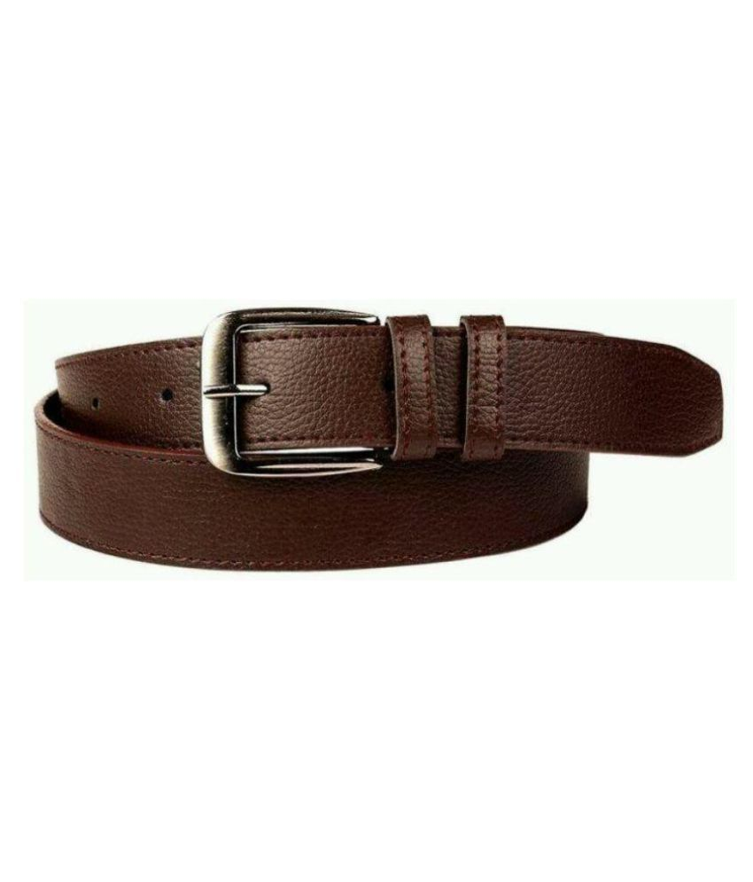 Master Club Brown Faux Leather Formal Belts