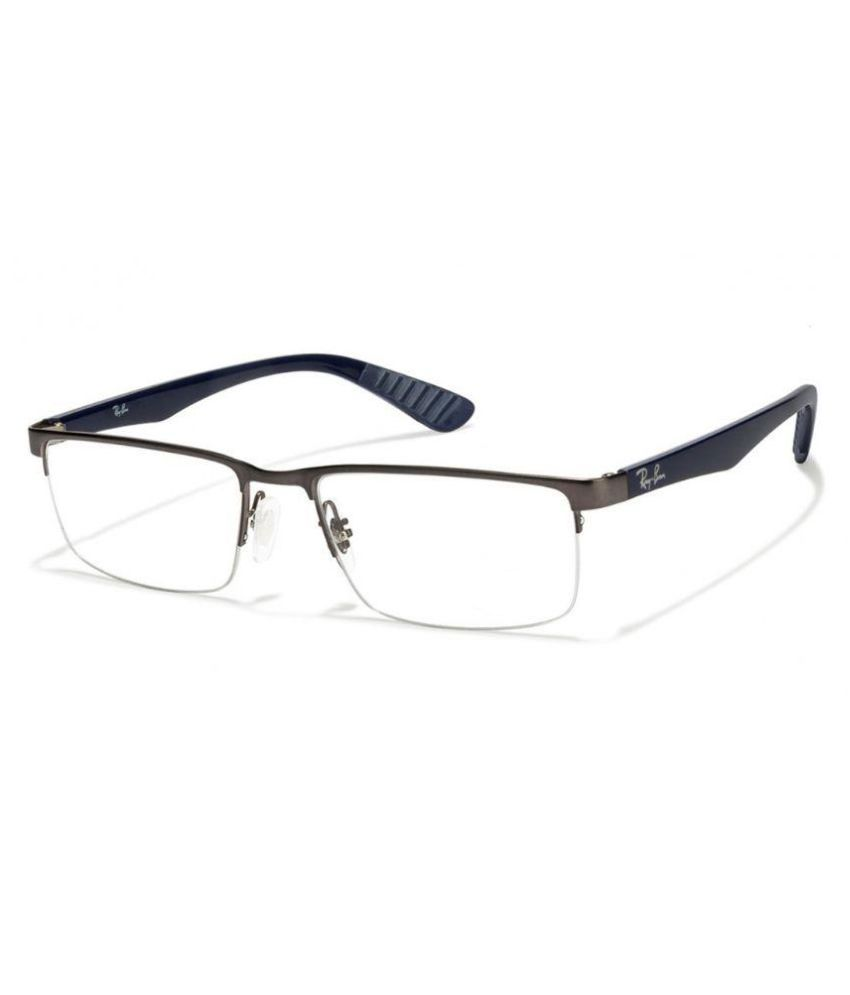 Ray-Ban Black Rectangle Spectacle Frame rx 6350 2870 53 - Buy Ray ...