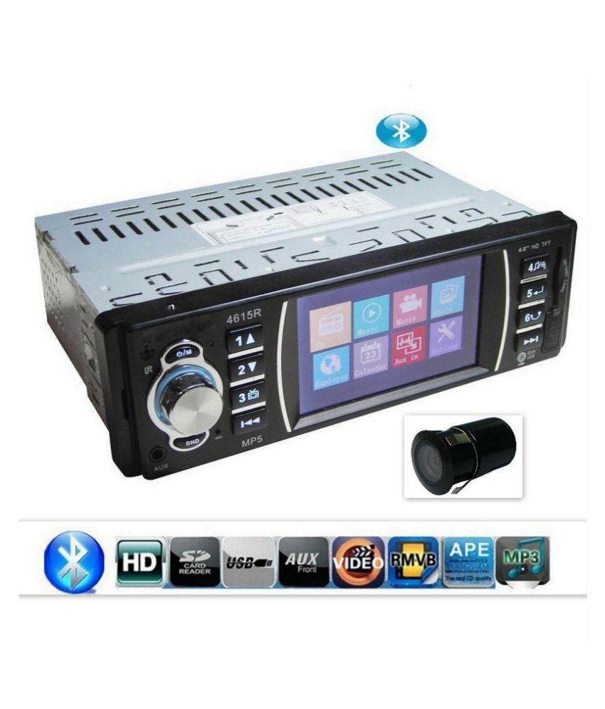 Indo-Best MP5/BT Type & HD Cam Single DIN Car Stereo