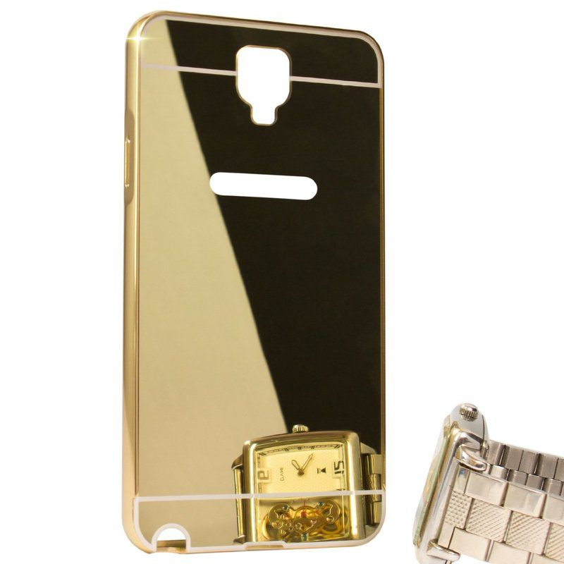 Mirror Back Cover For Samsung Galaxy Note 3 neo + Zipper earphone free by Style Crome.