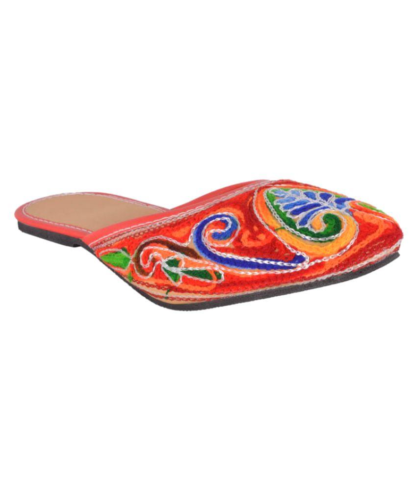 DFR Multicolour Flat Mojari Slip-ons