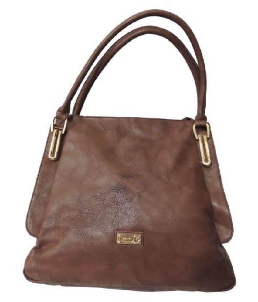 Battua Wala Brown Faux Leather Shoulder Bag