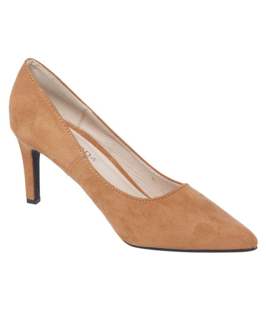 e341a9ca44 Vero Moda Brown Stiletto Heels Price in India- Buy Vero Moda Brown Stiletto  Heels Online at Snapdeal