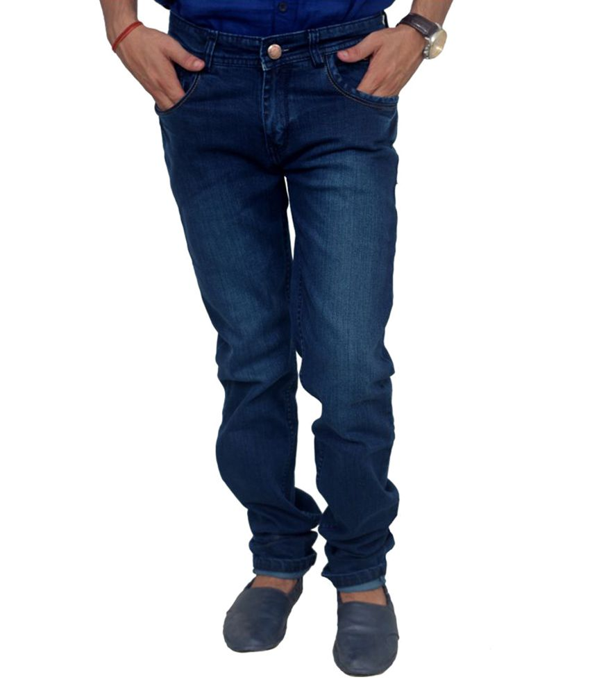 Blue Teazzers Blue Regular Fit Solid