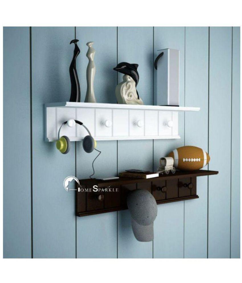 Onlineshoppee Floating Shelf/ Wall Shelf / Storage Shelf/ Decoration Shelf Multicolour - Pack of 2