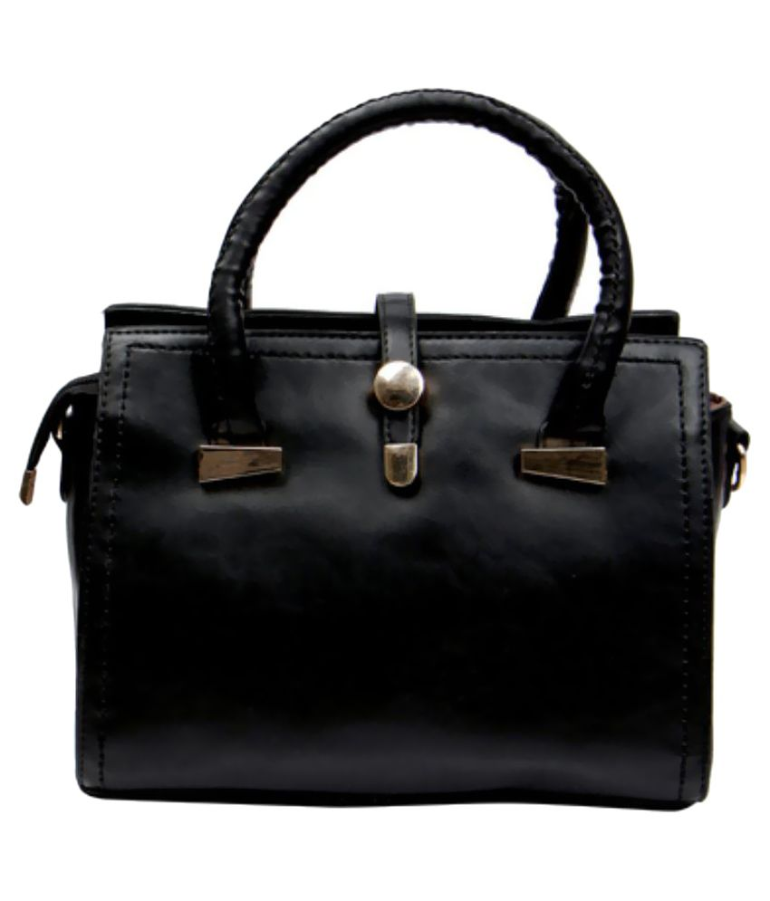 Temptation Black P.U. Shoulder Bag