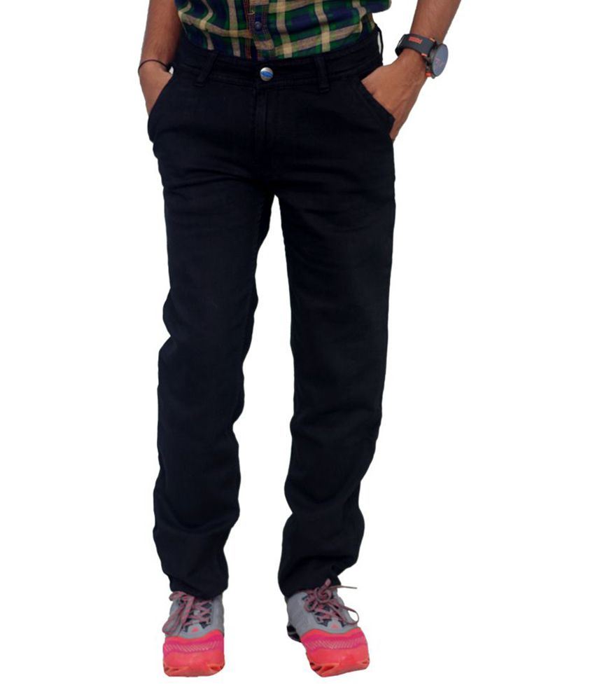 Blue Teazzers Black Regular Fit Solid