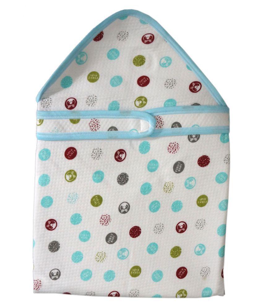 Muren Multi-Colour Polyester Baby Wrap cum blanket ( 78 cm × 20 cm - 1 pcs)