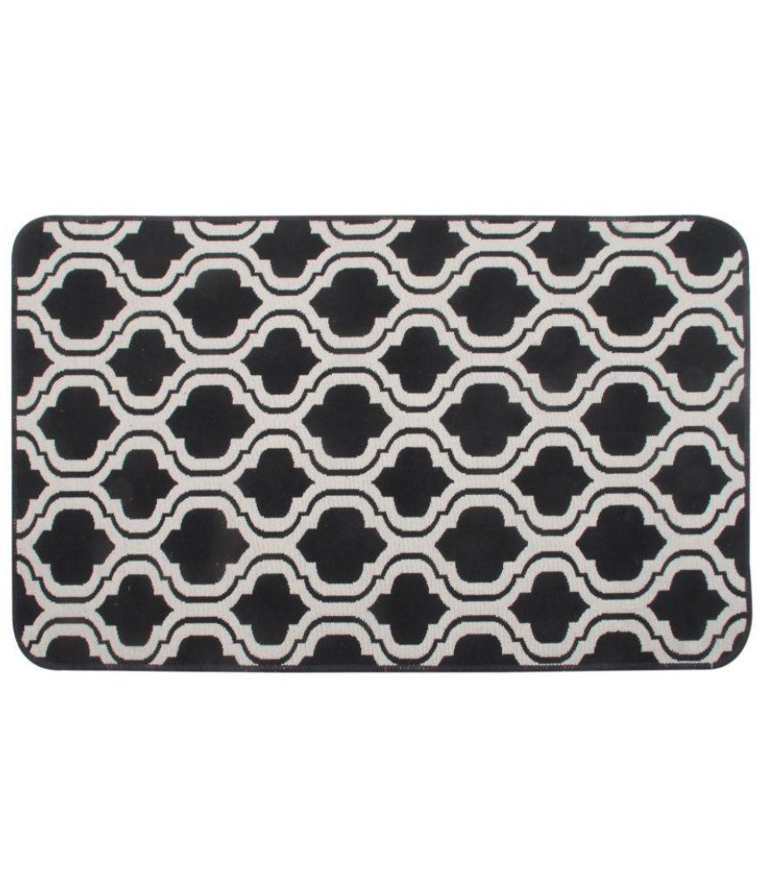 Saral Home Black Single Anti-skid Floor Mat