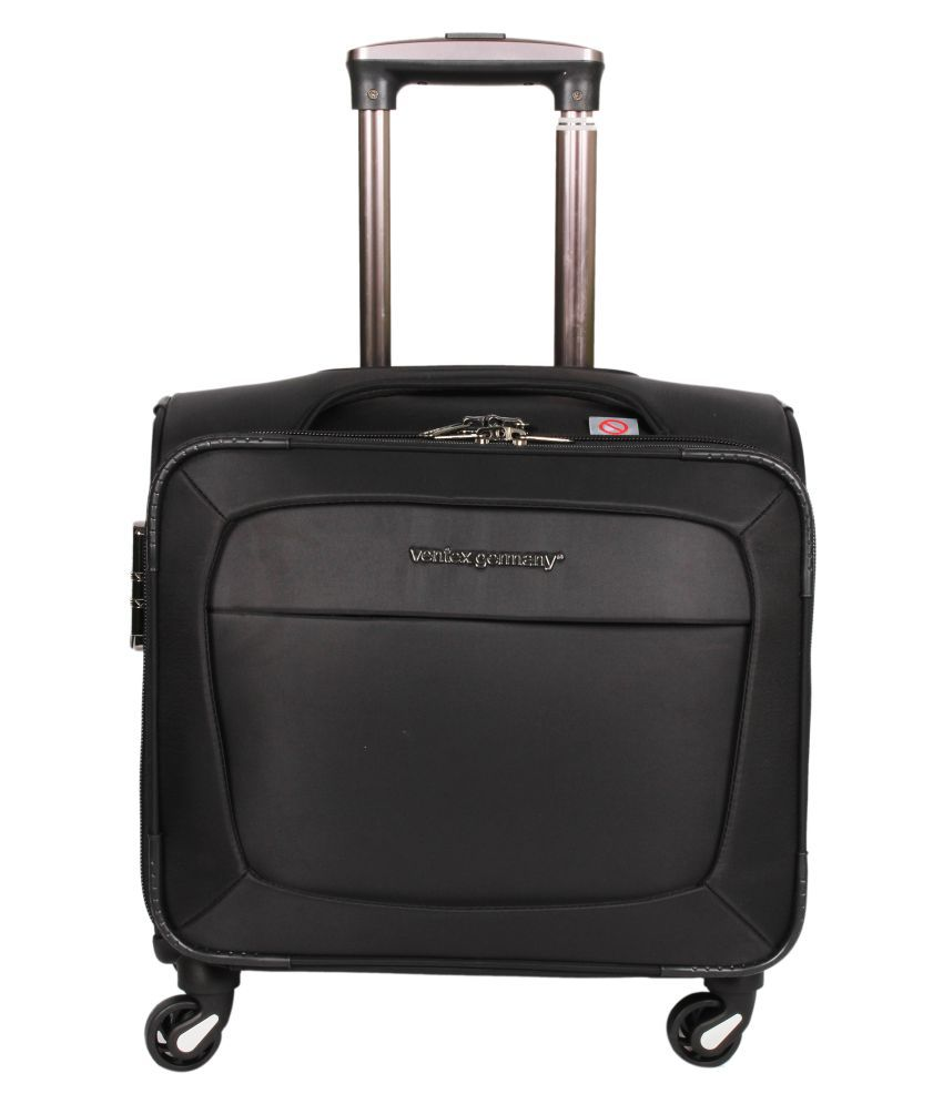 Ventex Black Cabin Size Overnighter Trolley Suitcase Bag