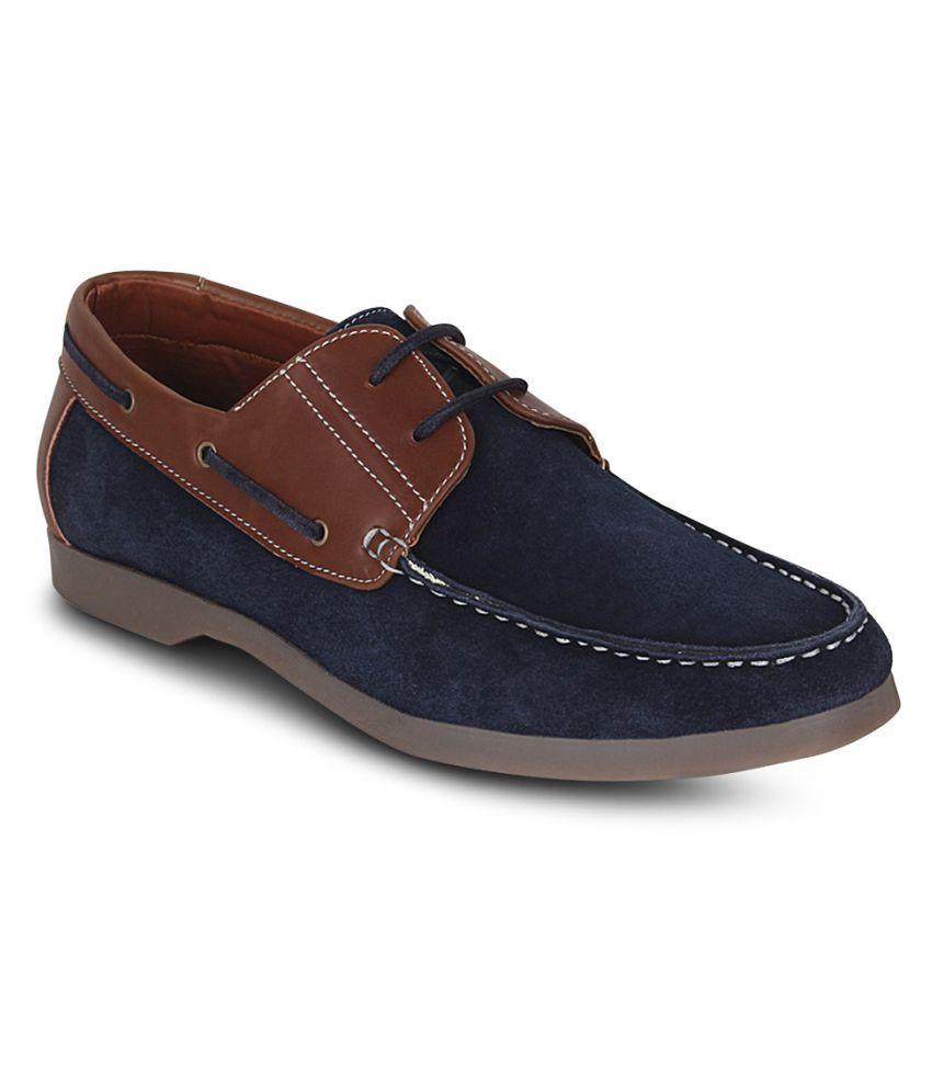 Kielz Boat Blue Casual Shoes
