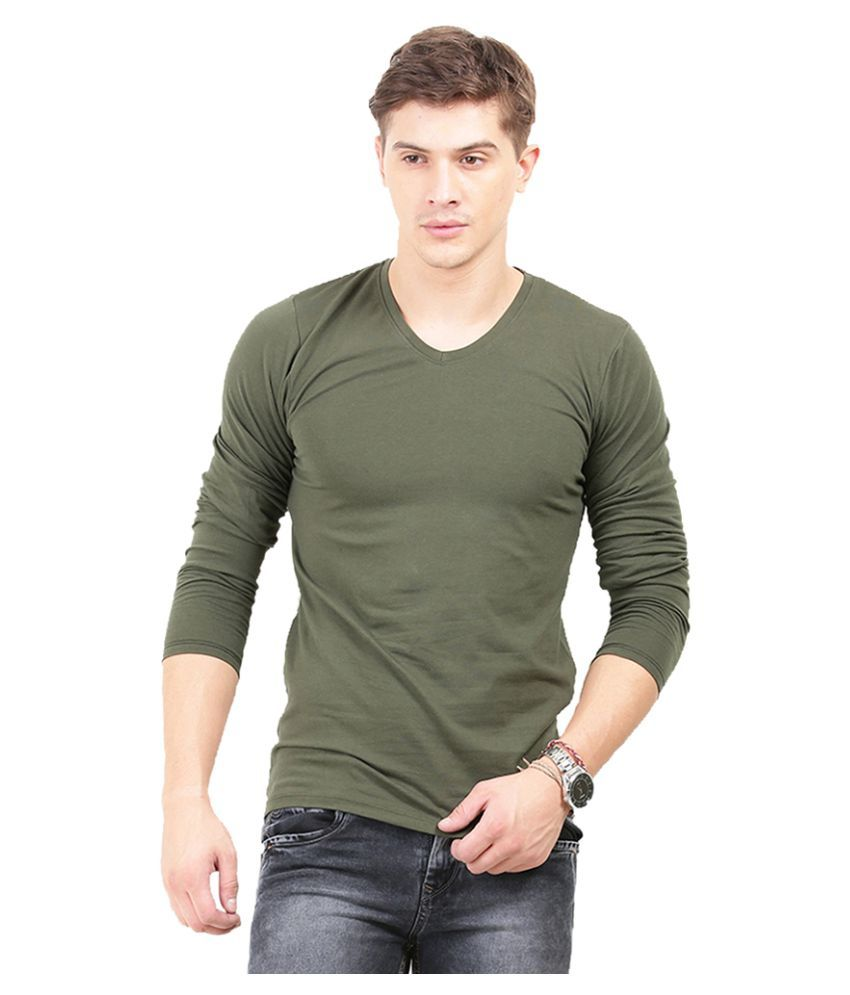 Thisrupt Green V-Neck T-Shirt