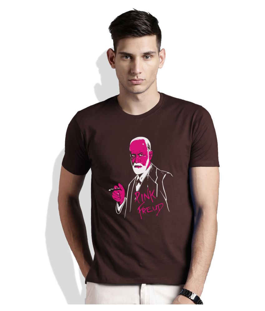 Artywear Brown Round T-Shirt