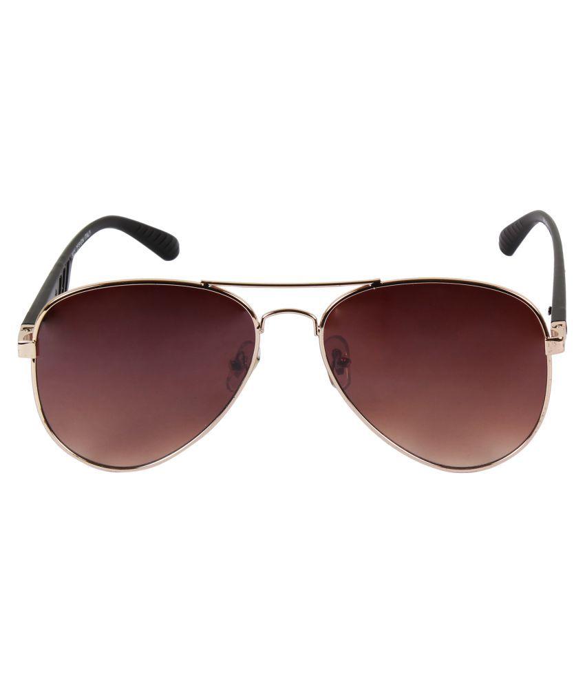 Deglazen Brown Oval Sunglasses ( St-114 )
