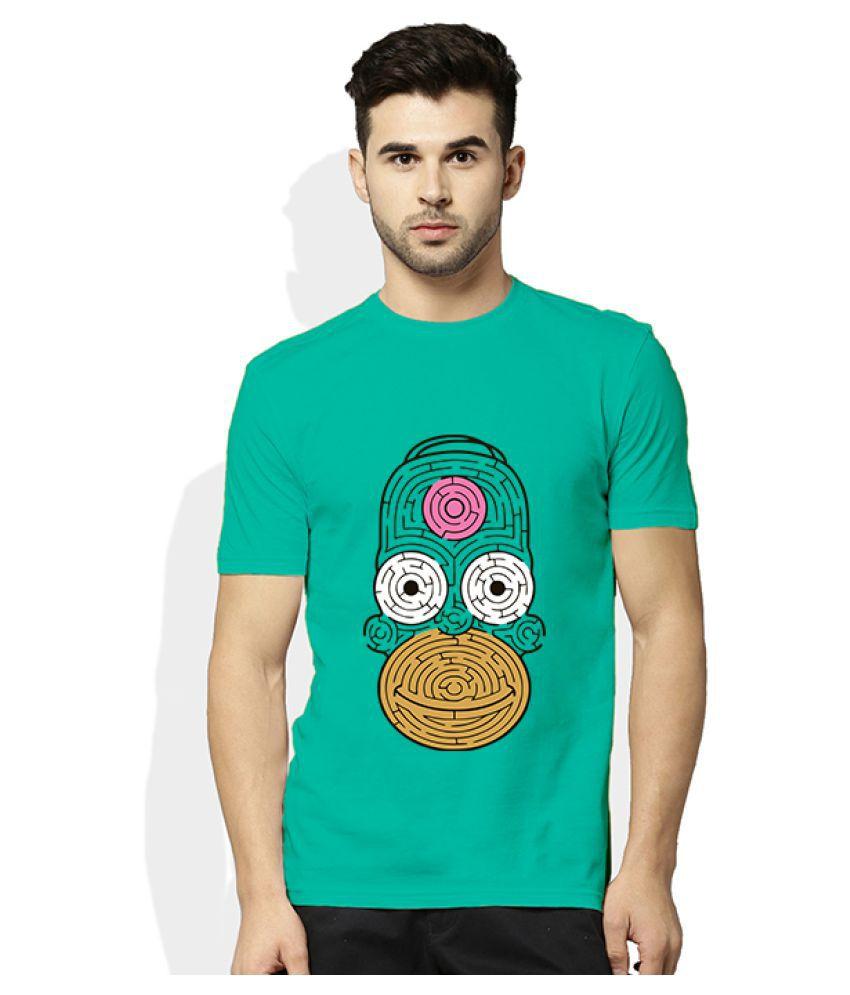 Artywear Turquoise Round T-Shirt